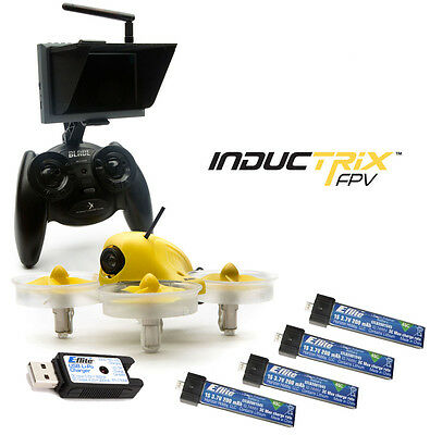 Blade BLH8500 Inductrix FPV Mini Quadcopter RTF w/ 4x Battery Charger Monitor
