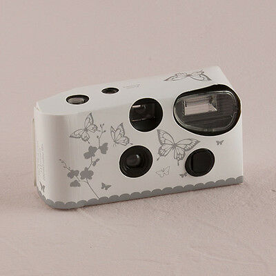 12 - Butterfly Garden White And Gold Single Use Camera - Wedding Reception