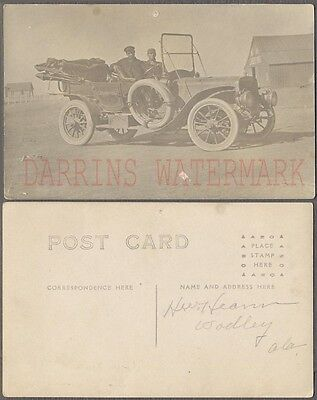 Vintage Car Photo Postcard Men in 1900s Mystery Automobile Crosbyton 709018