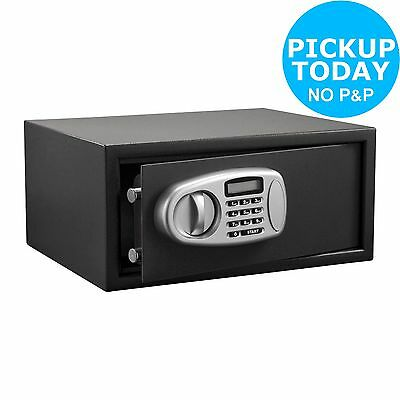 Electronic Wall Mountable Steel Laptop Safe - Black -From the Argos Shop on ebay
