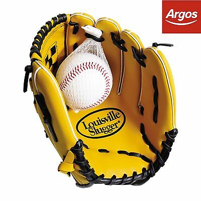 Louisville Slugger 12 Inch Tan Glove and Ball Baseball Set -From Argos on ebay