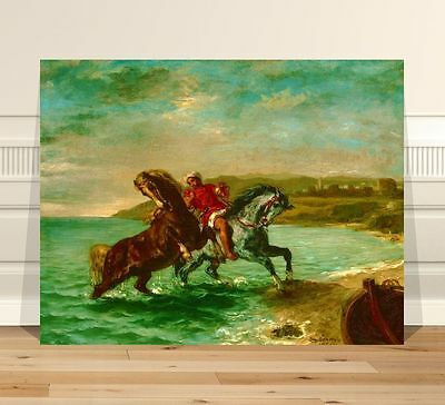 Eugene Delacroix Coming Out of the Sea ~ FINE ART CANVAS PRINT 8x10""