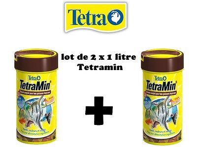 Tetra min  2 x 1 litres  !!!  OFFRE SPECIALE