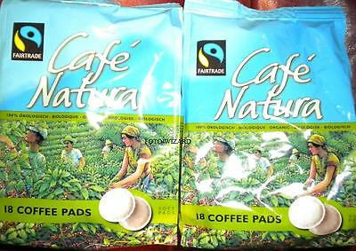 Senseo Cafe Natura 36 Coffee Pods 2 Packs Pads Fairtrade