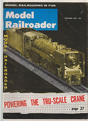 Model Railroader Sept 1959  - Alco Road Switchers / Trackside Cattle Pens