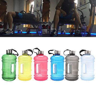 2.2L Big BPA Free Sport Gym Training Drink Water Bottle Cap Kettle Workout hot
