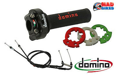 Domino XM2 Quick Action Throttle, Grips and Cables for Yamaha YZF R1 2015-2016