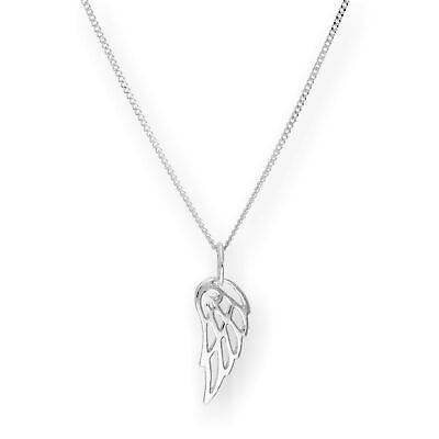 Real 925 Sterling Silver Open Angel Wing Necklace 14 - 32 Inches Angels