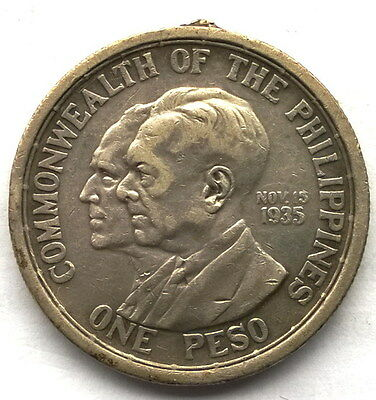 Philippines 1936 Establishment of the Commonwealth Peso Silver Coin