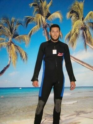 Wetsuit 7MM Front Zip up to 6X Plus Size Full Suit Stretch Series Scuba 8850BXS