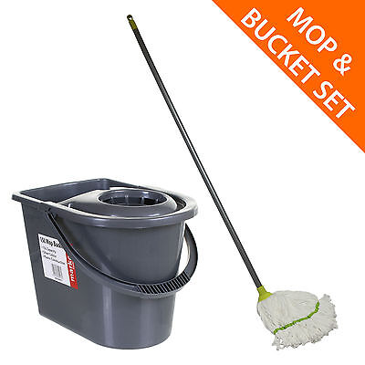 Mop and Bucket Set Microfibre Mop Cloth Easy Clean Quick Dry Floor Bucket