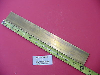 "1/8"" x 2"" C360 BRASS FLAT BAR 12"" long Solid Plate .125"" Mill Stock H02"