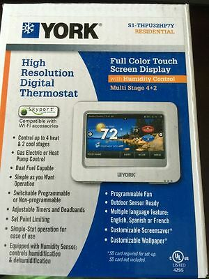 York Full Color Touch Screen Display Digital Thermostat S1-Thpu32Hp7Y Brand New