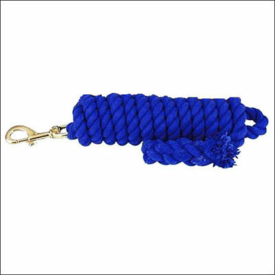 HILASON WESTERN NAVY 5/8 inch x 10 Feet TIGHT TWISTED COTTON HORSE LEAD ROPE