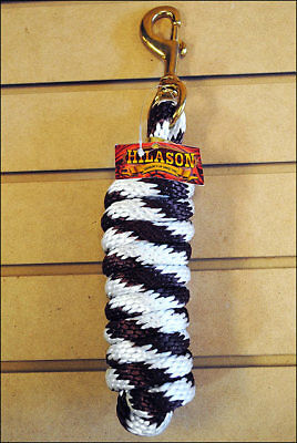 Brown & White Hilason Western Tack Horse Poly Lead Ropes W/ Brass Plated Snap