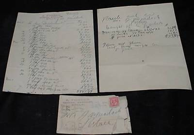 1910 Forbes General Store papers Brule Nova Scotia Envelope Cancel