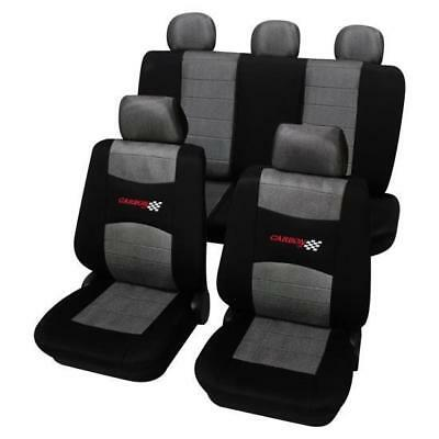 Grey & Black Washable Car Seat Covers - For Opel Corsa C 2000-2007