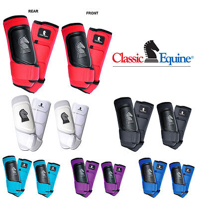 4 Pack Classic Equine Cross Fit Horse Leg Boot Front Rear Hind All Color & Size