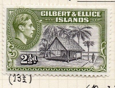 Gilbert & Ellice Islands 1939-45 Fine Mint Hinged 2.5d. Perf in Scan 096240