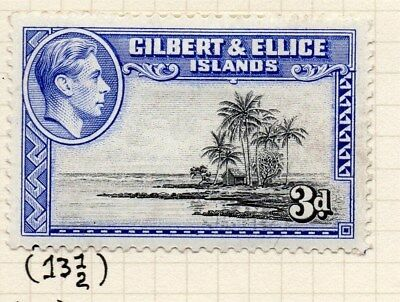 Gilbert & Ellice Islands 1939-45 Issue Fine Mint Hinged 3d. Perf in Scan 096244