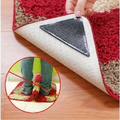 4Pcs Rug Carpet Mat Grippers Ruggies Non Slip Skid Reusable Washable Grips Tape