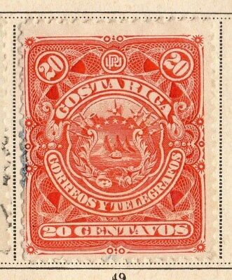 Costa Rica 1892 Early Issue Fine Used 20c. 096031