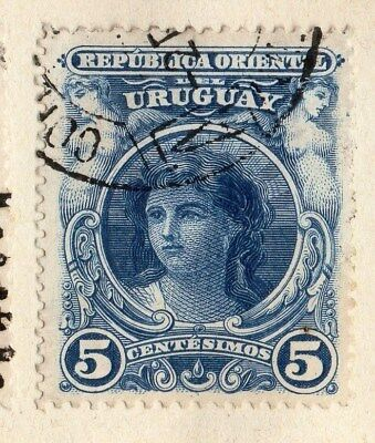 Uruguay 1899 Early Issue Fine Used 5c. 096058
