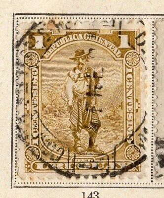 Uruguay 1895-96 Early Issue Fine Used 1c. 096065