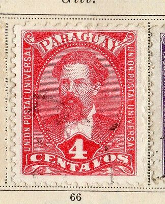 Paraguay 1892 Early Issue Fine Used 4c.  096194