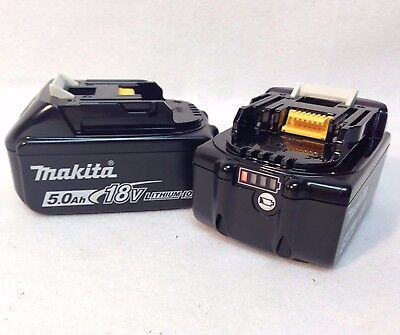 2 GENUINE Makita BL1850B NEW 18V 18 Volt LXT Lithium-Ion 5.0 Ah Battery