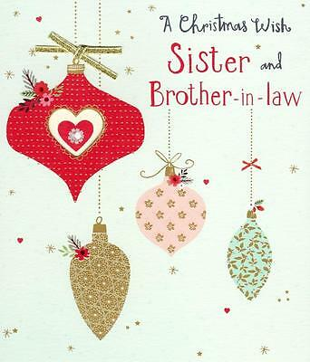 Boofle brother sister in law christmas greeting card foiled xmas sister brother in law christmas greeting card embellished special xmas cards m4hsunfo