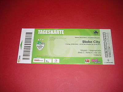 2012/13 Friendly Greuther Furth V Stoke Ticket