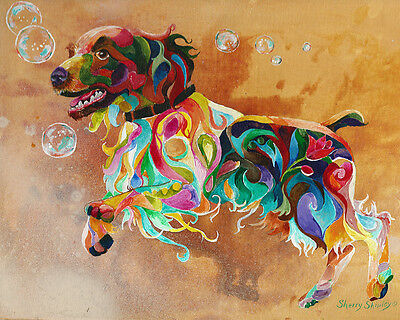"""BUBBLES English Springer Spaniel 8X10 DOG   print by Artist Sherry Shipley"