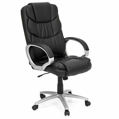 Best Choice Products  Ergonomic PU Leather High Back Office Chair, Black