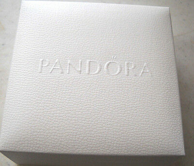 9 Lot Authentic Pandora Jewelry Empty Boxes New 3+1/2X3+1/2 Inches With Cushion