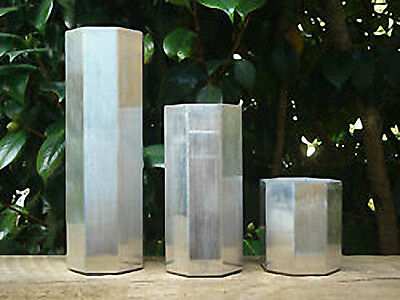 OCTAGON Seamless Aluminum Candle Mold 3 inches wide (You choose height)