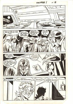 Voltron #1 p.6 - Keith & Robot Lion in Spaceport - 1985 art by Dick Ayers