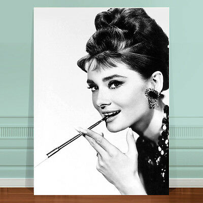 "Vintage Movie Poster Art ~ CANVAS PRINT 24x16"" Audrey Hepburn"