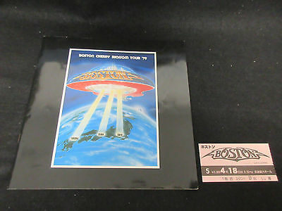 Boston 1979 Japan Tour Book with Ticket Stub Tom Scholz Concert Program