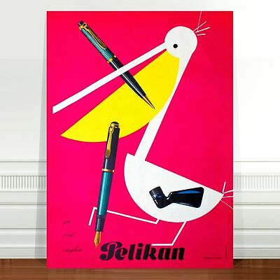 "Vintage Advertising Poster Art ~ CANVAS PRINT 36x24"" Pelican Cigarettes"