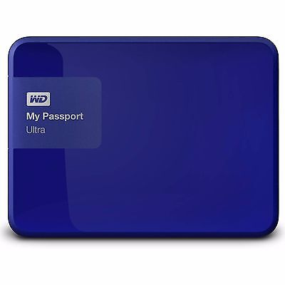 "Western Digital WD My Passport Ultra 4TB 2.5"" Portable External Hard Drive Blue"