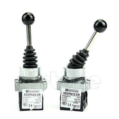 2NO 2Positions Joystick Latching Maintained Wobble Switch XD2PA12 CR+XD2-PA22 CR