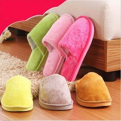 New Men Women Winter Soft Plush Warm Indoor Slippers Unisex Home Slipper Shoes