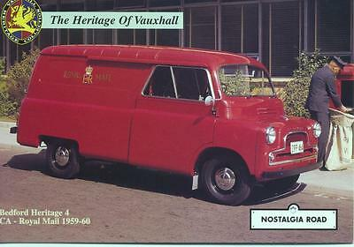 1959 Bedford CA Van rare Royal Mail livery unused Nostalgia Road postcard