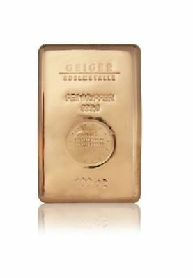 Cuivre Lingot 100 Onces Schloss Güldengossa - 100 Oz Copper Bar
