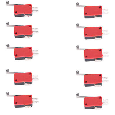 10X Long Handle Micro Roller Lever Arm Normally Open Close Limit Switch KW7-2