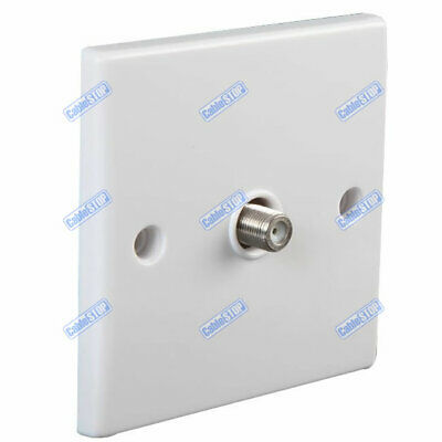 WHITE SATELLITE 1 x F TYPE WALL PLATE FACEPLATE SOCKET PCB CONNECTOR SKY OUTLET