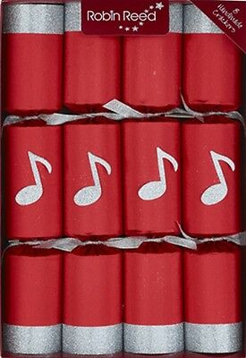 Set Of 8 Robin Reed Chime Bars Christmas Crackers 13inch