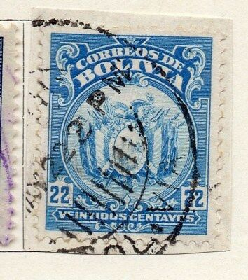 Bolivia 1919-23 Early Issue Fine Used 22c. 096601