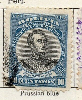 Bolivia 1909 Early Issue Fine Used 10c. 096609